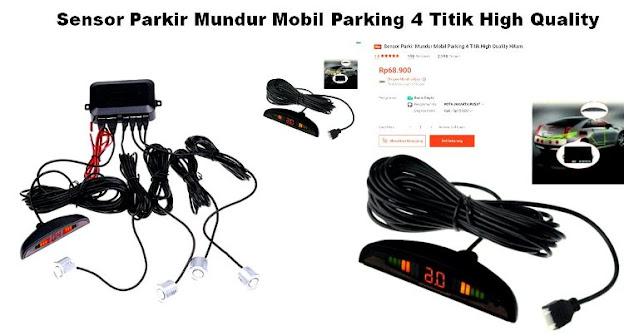 Merk-Sensor-Parkir-Mobil-Terbaik-murah-dan-Berkualitas-4-Titik-High Quality-Hitam