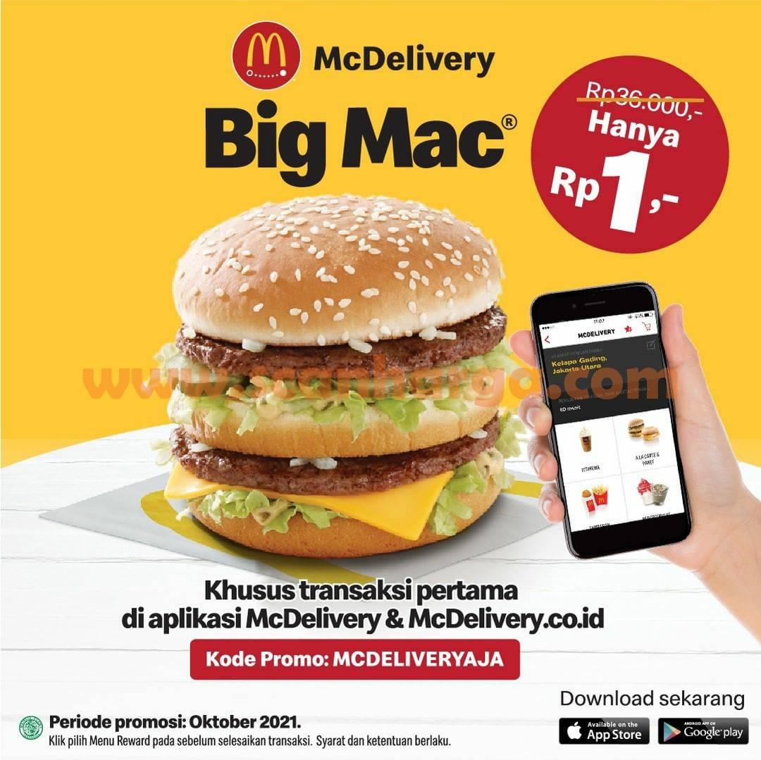 Promo MCDONALDS BIG MAC Hanya Rp. 1,- Aja