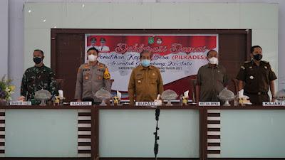 Deklarasi Damai Pilkades Serentak 2021, Dollah Mando Imbau Cakades Bersaing Sehat dan Perhatikan Protokol Kesehatan