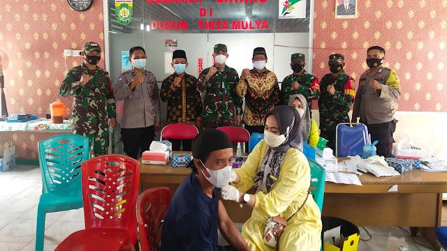 Tinjau Jalannya Vaksinasi, Dandim 0416/Bute : Walaupun Sudah Divaksin, Prokes Tetap Dipatuhi