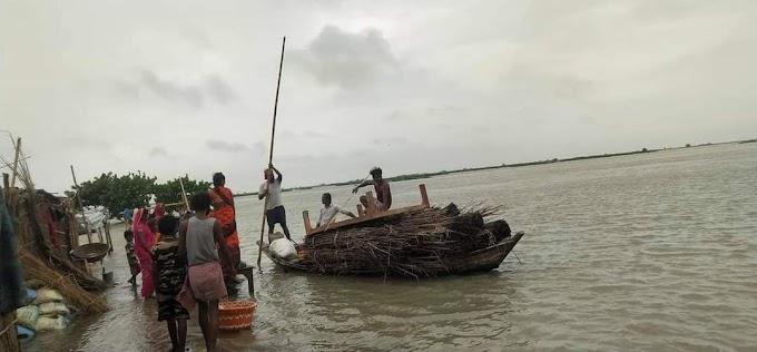 बाढ़ प्रभावित इलाकों की दयनीय स्थिति