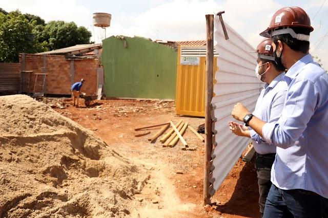 Senador Canedo inicia reconstrução de casas atingidas pela queda de reservatório; Região terá Novo Sistema de Abastecimento