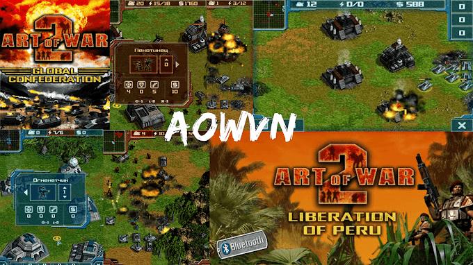 [Java] Game Art Of War 2 Việt Hoá   Liberation of peru Đỏ  và Global Confederation Xanh