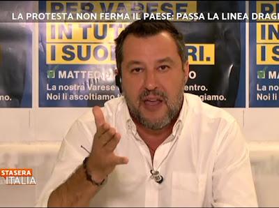 foto Matteo Salvini Stasera Italia 15 ottobre 2021