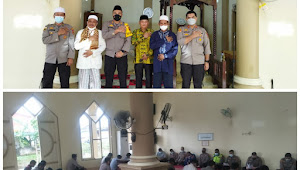 Polres Tanjabbar Giat Acara  Bimbingan Rohani dan Maulid Nabi Muhammad SAW. 1443.H/2021 di Masjid Nur Annisa