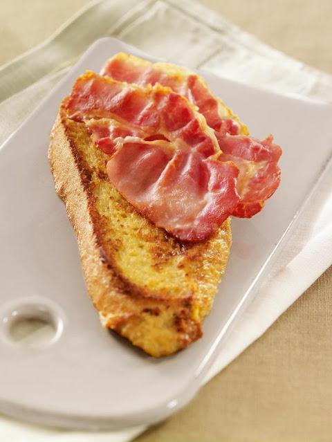 Torradas Francesas com Bacon