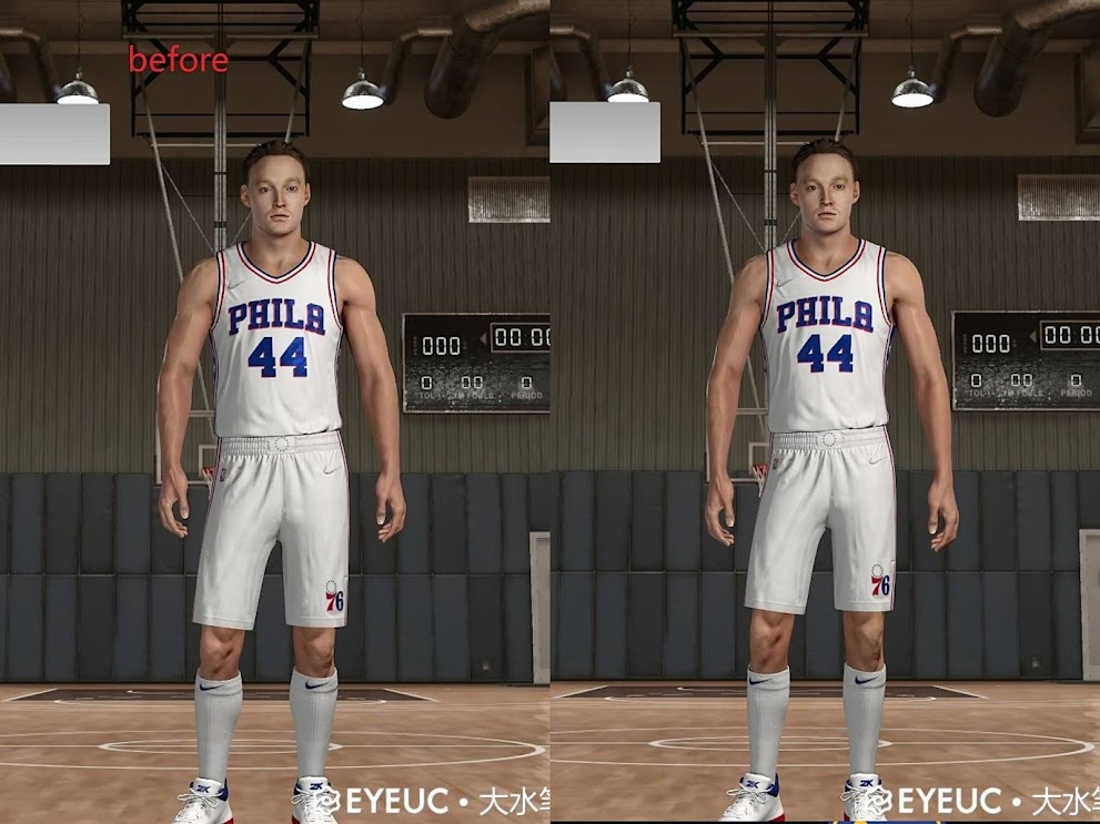 NBA 2K22 Keith Van Horn Cyberface and Body Model by Big Pen