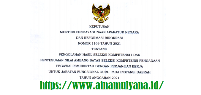 Keputusan Menpan RB atau Kepmenpan RB Nomor 1169 Tahun 2021