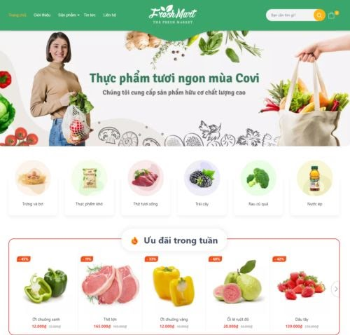Template blogspot bán hàng thực phẩm