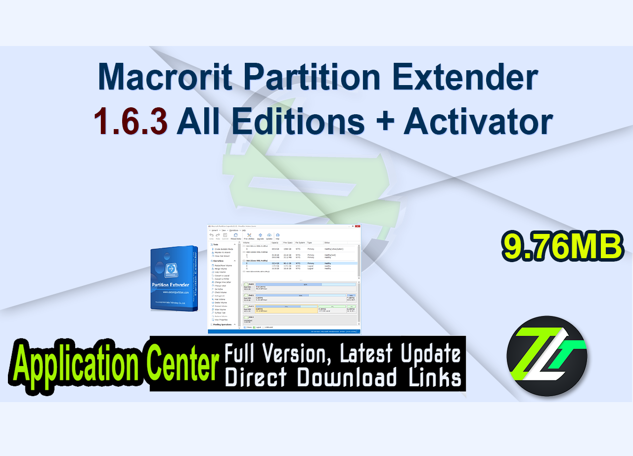 Macrorit Partition Extender 1.6.3 All Editions + Activator
