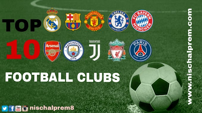 Top 10 most popular football clubs in the world