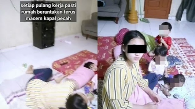 Suami Pulang Nongkrong Ngamuk karena Rumah Berantakan, Istri Cuma Tidur sambil Urus Anak