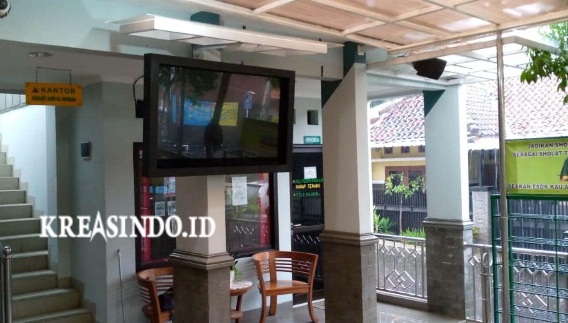 Repeat Order Keempat Pemasangan Pengaman TV di Masjid Al-Ikhwan Depok Timur