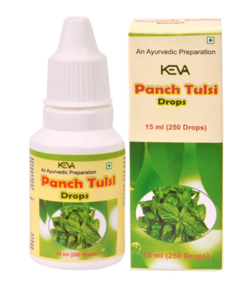 Keva Panch Tulsi Drops - Organic, Natural & Powerful Immunity Booster / Antioxidant (15 ml)