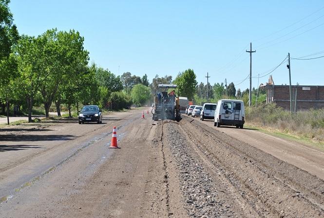 Comenzó la repavimentación de avenida Alberdi en San Rafael