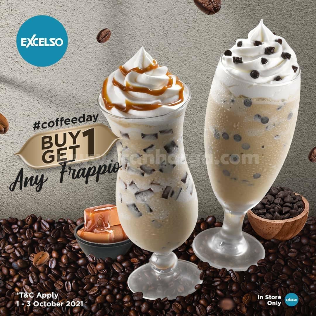 EXCELSO COFFEE Promo Hari Kopi Sedunia Beli 1 Gratis 1
