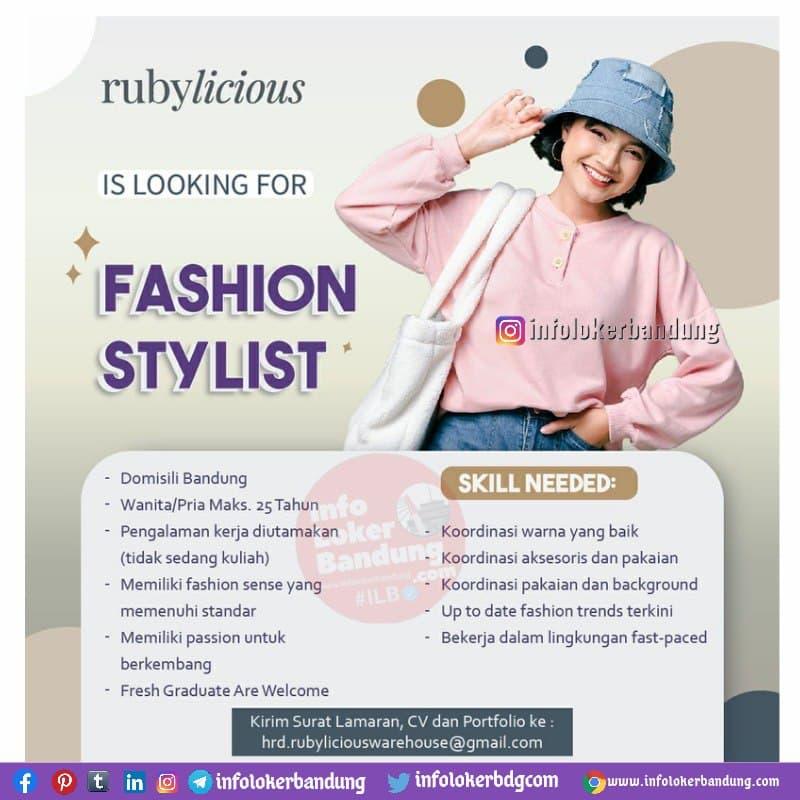 Lowongan Kerja Fashion Stylist Rubylicious Bandung Oktober 2021