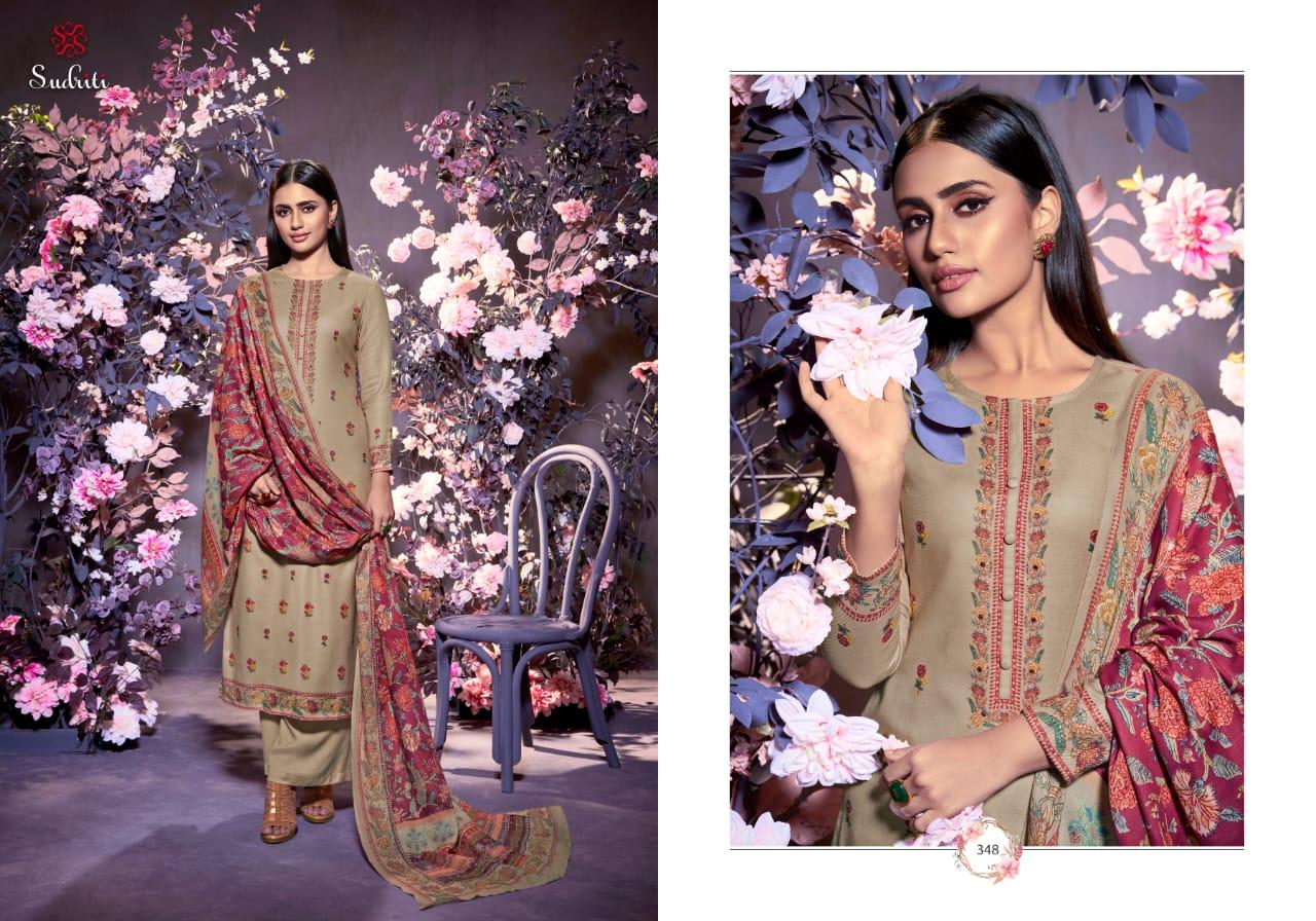 Sudriti Sahiba Sanghi Pashmina Suits Catalog Lowest Price