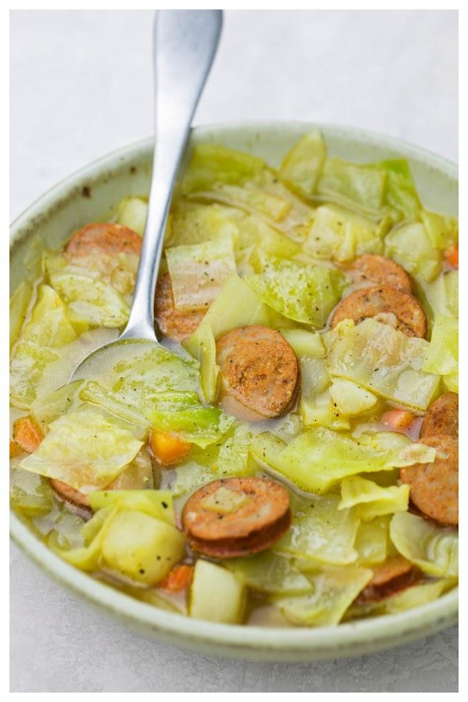 Cabbage soup Recipe - முட்டைக்கோஸ் சூப் செய்முறை