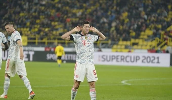 Lewandowski Double Helps Bayern Beat Dortmund to Win German Super Cup