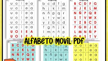 Alfabeto movil para imprimir y recortar pdf