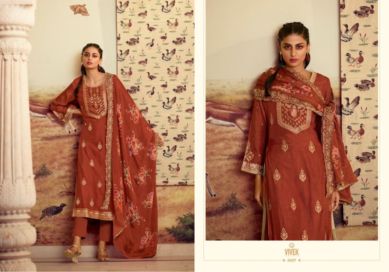 Vivek Jhalak Salwar Suits Catalog Lowest Price