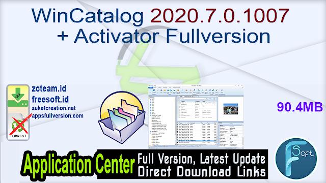 WinCatalog 2020.7.0.1007 + Activator Fullversion