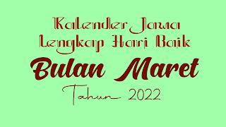 kalender jawa untuk bulan maret 2022 - kanalmu