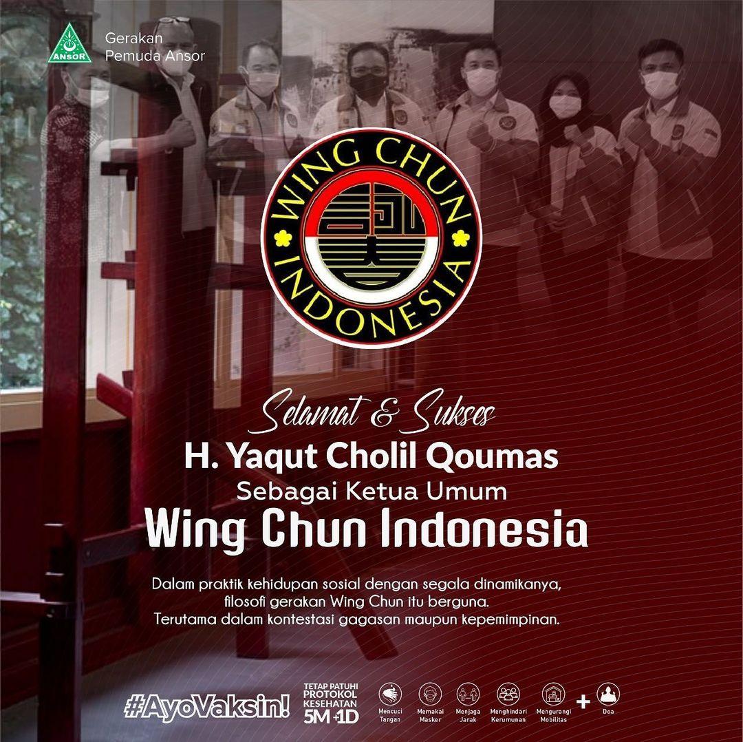 Selamat Gus Yaqut Menjadi Ketua Umum Wing Chun Indonesia