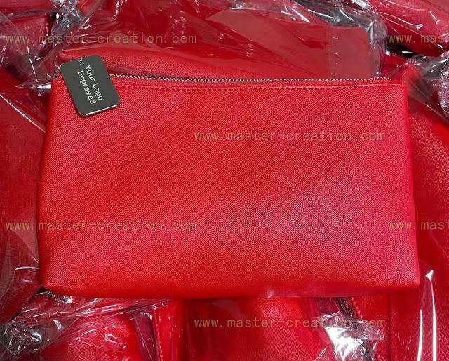 red pu bag