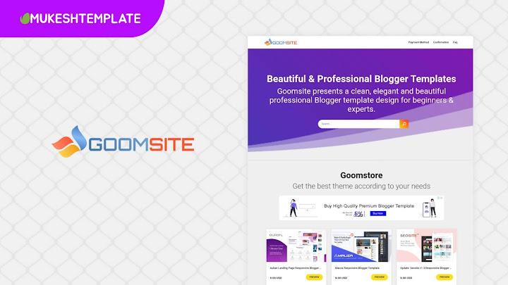 New Goomsite - Premium Clone Blogger Template