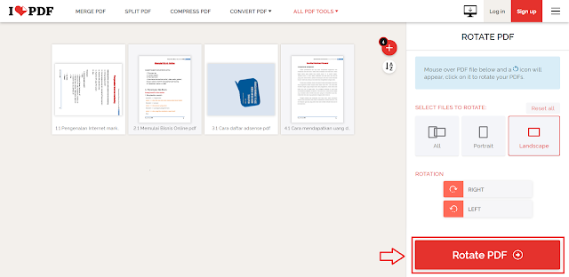 Cara Memutar/Rotasi Halaman PDF (Rotate PDF) Secara Online
