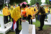 HUT Golkar ke- 57, Musa Rajekshah Ziarah ke Taman Makam Pahlawan