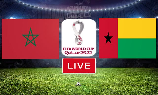 مشاهدة مباراة غينيا بيساو ضد منتخب المغرب بث مباشر في تصفيات كاس العالم 2022 LIVE / Match Guinea-Bissau vs Maroc En Direct