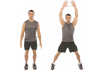 Jumping jack, full body strength training workout