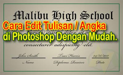 Cara Edit Tulisan di Photoshop