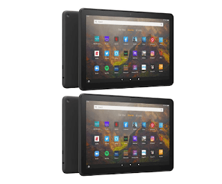 "$150, New HSN Customers: 2-Pk Amazon Fire HD 10"" 32GB Tablet (2021 Model)"