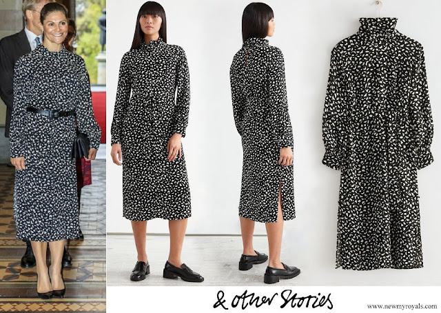 Crown Princess Victoria wore & Other Stories Belted Turtleneck Midi Dress