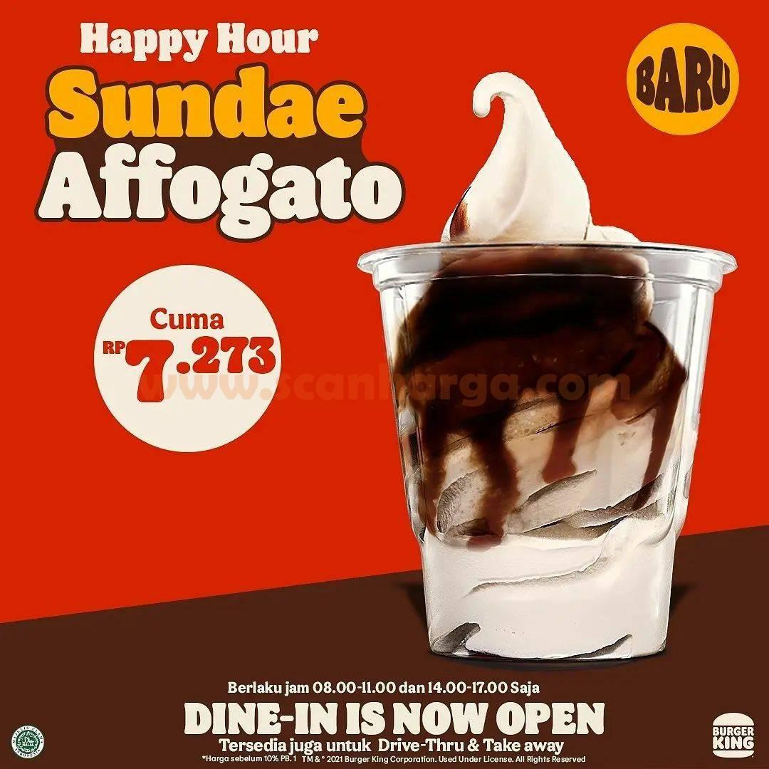 Promo Burger King Happy Hour Sundae Affogato harga cuma Rp. 7.273