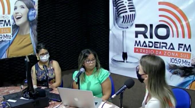 ÁLCOOL EM GEL: Em entrevista à Rádio Rio Madeira, secretária de Educação destaca trabalho do vereador Fogaça