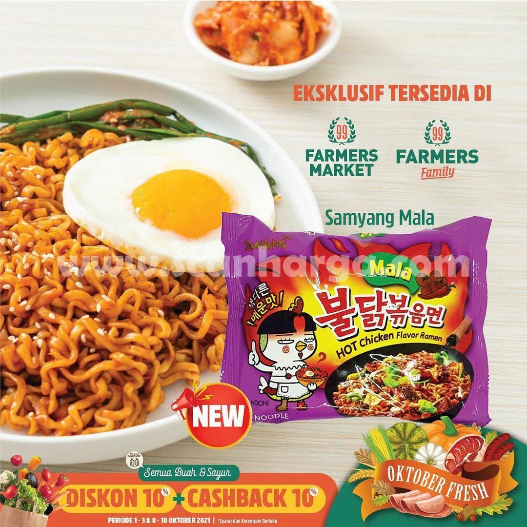 Harga Promo Samyang Mala Diskon 10% + Cashback 10 hanya di Farmers Market