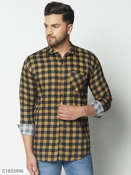 Cotton Checks Full Sleeves Shirts For Men | Checks Shirts For Men Online Shopping | Mens Shirts Online |