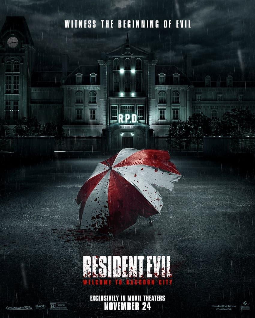 Постер хоррора «Обитель зла: Раккун-Сити», новой экранизации Resident Evil