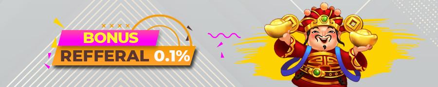 BONUS REFFERAL 0.1%