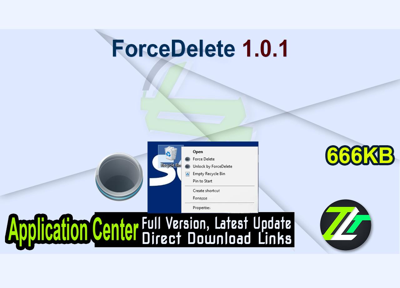 ForceDelete 1.0.1