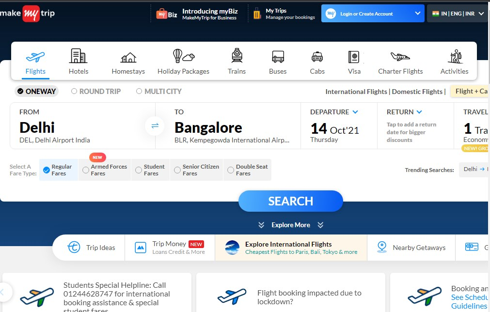 MakeMyTrip - Best 10 Hotel Booking App In India 2021 - Techmexo.com