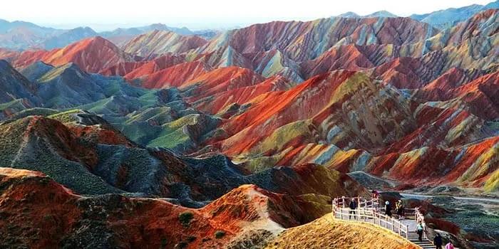 Rainbow Mountains of Chine
