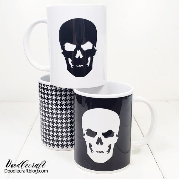 The best part is the time it takes. If you are quick in deciding your image, it can take just about 10 minutes or less to knock out a couple of mugs.   Make matching mugs for every holiday, make them for pencil holders, make-up brush holders or seasonal decor!