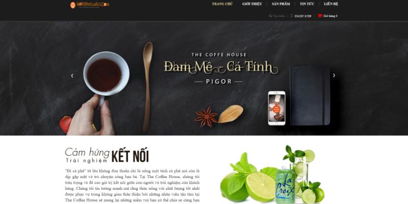 Mẫu website bán cà phê đồ uống