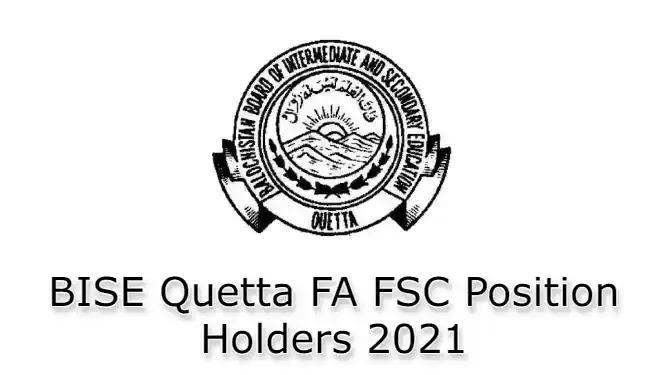 BISE Quetta Inter FA FSc Top Position Holders 2021
